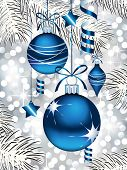picture of christmas ornament  - Blue Christmas Ornaments - JPG