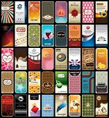 picture of flamingo  - Collection of 40 business cards inspired by different motives - JPG