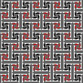 Seamless decorative labyrinthine pattern. Abstract texture with interweaving effect. Vector art.
