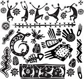 stock photo of primite  - Primitive art design elements - JPG