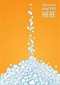 heap of sugar, vector illustration