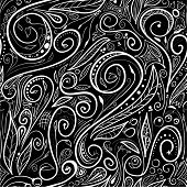 Seamless pattern - Black and white doodles