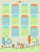 Calendar for 2011 - Retro nature