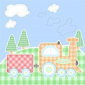 Cute baby greeting card - Vector version also available