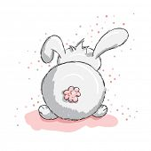 Cute rabbit with pink details