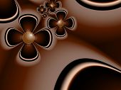 Fantasy Fractal Image With Dark Flowers. Original Template With Place For Inserting Your Text. Fract poster