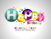 pic of happy birthday  - Happy Birthday abstract colorful background - JPG