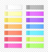 Sticky Paper Notes With Shadow Effect. Blank Color Memo Note Stickers For Posting Isolated On Transp poster