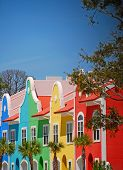 Multicolored Townhomes