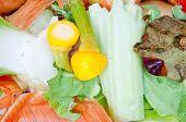 Vegetable scraps suitable for compost pile