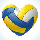 stock photo of volleyball  - I love volleyball - JPG