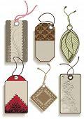 Set of decorative vector labels