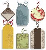 Set of decorative labels