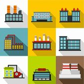 Production Icons Set. Flat Illustration Of 9 Production Icons For Web poster