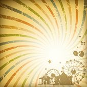 Retro sunburst background