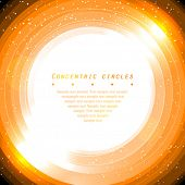 Concentric circles, abstract background. Sample text on preview ONLY