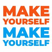 Make Yourself Gym Motivation Template. Banner Sport Motivation poster