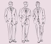 men in business suits, vector