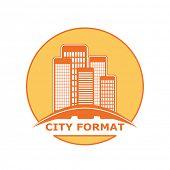 city format logo, vector