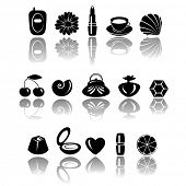 accessory icons, vector