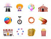 stock photo of circus tent  - Circus Icon set - JPG
