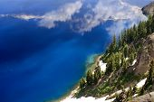 Blue Water Crater Lake National Park Oregon