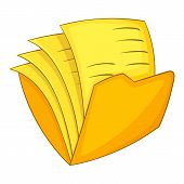 Office Folder Icon. Cartoon Illustration Of Office Folder Icon For Web poster