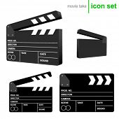 vector clapboard take icons