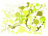 Gouache Paint Stains Grunge Background Vector. Cool Ink Splatter, Spray Blots, Mud Spot Elements, Wa poster