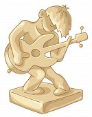 Golden Statuette Of The Guitar Player