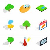 Preserve Icons Set. Isometric Set Of 9 Preserve Icons For Web Isolated On White Background poster