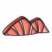 Ocean Shell Icon. Cartoon Illustration Of Ocean Shell Icon For Web poster