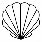 Shell Icon. Outline Illustration Of Shell Icon For Web poster