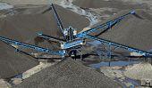Fondo de mina de carbón