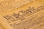 foto of preamble  - The Constitution - JPG