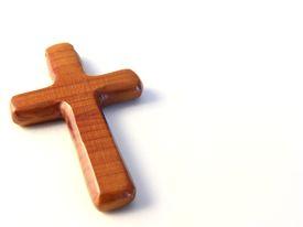 pic of christian cross  - cross on white background - JPG