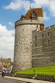 Curfew Tower At Windsor Castle On A Sunny Day