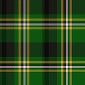 Green tartan or plaid seamless design