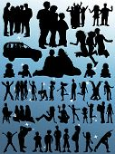 Vector Silhouettes - Family