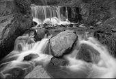 Waterfall - Black And White Slow Exposure
