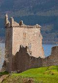 Ruins of Urquhart Castle at Loch Ness Inverness Highlands Scotland UK