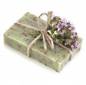 pic of origanum majorana  - Natural handmade soap with fragrant herbs  - JPG
