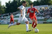 KAPOSVAR, HUNGARY - AUGUST 4: Bojan Pavlovic (in white) in action at a Hungarian National Championsh