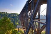 picture of trestle bridge  - High Bridge railroad tressle in Kentucky - JPG