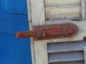 Rusted Shutter Latch
