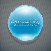 Vector gota de agua sobre un fondo oscuro
