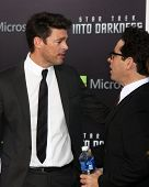 LOS ANGELES - MAY 14:  Karl Urban and JJ Abrams arrives at the