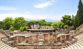 Ruins of Pompeii, Italy. Summer day