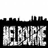 Grunge Melbourne mit Skyline