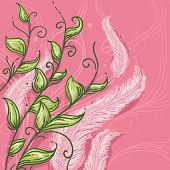 Illustration of Feathers and Leaves for Virgo Horoscope Design